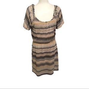 B.Darlin Dress, Black, Tan, & White, Size 13